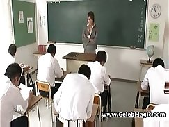 Blindfolded japanese slit teacher fucks students re class gets into sex