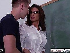 Nice looking teacher fucked in grading room