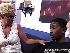 Amazing hot blonde and black mature