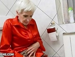American granny with big tits on hidden cam