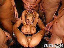 Punishment for low headbutt type blow job orgy