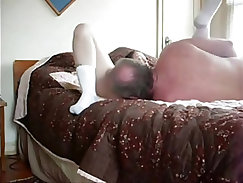 Chick shows and swallows giant schlong of grandpa
