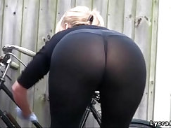 Big Ass Orange Gets Pounded Outdoor