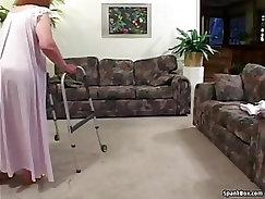 Cougar Tattooed Twat Still A Granny