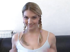 Bitch with natural big boobs gets fucked
