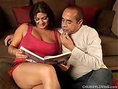Chubby brunette gril with BIG tits Nadia Trix