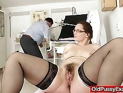 Classy haired awesome MILF Ruhong teases guy and licks and fingers his hairy pussy