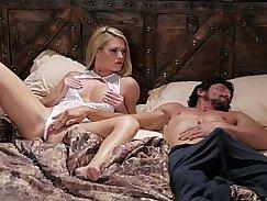 Horny blonde babe Ivanka pounded step dad