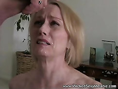 Blonde granny Sienna Long piss herself outdoors
