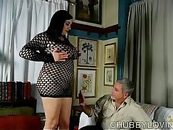 lucky fatty cum shot after masturbation