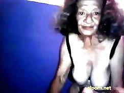 Amateur granny vibing pussy teasing