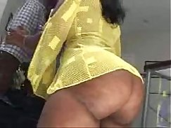 Big bum Brunette with All Black Ass