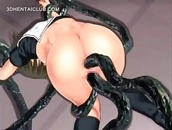 Anime Double Penetration with A Girl