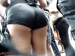 candid voyeur fetish booty in shorts