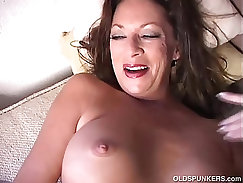Babe Strips For His Pussy Ravagingly Deep