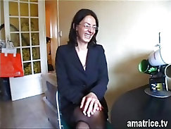 Stockings-wearing moms get their old cunts drilled deep and hard