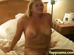 blond slut one creamy double penetration