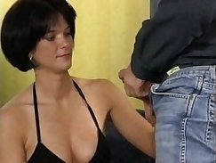German brunette fuck session with photographer