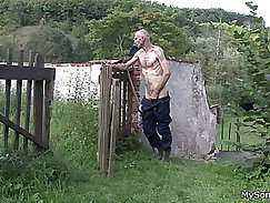 Old dudes using their wrinkly, shriveled-up cocks to fuck hot holes