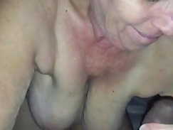 Granny sucks and fucks black cock