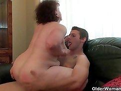 Blowjob after facial Thank grandma for that ass