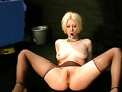 Bizarre sexual slavery of blonde Cherry Torn in extreme bdsm