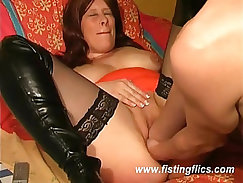She needs two fists in her gaping pussy