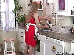 CD Plowing Her Horny Pussy in the Kitchen