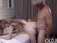 young lit plays with pussy after massage
