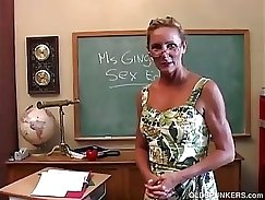 Big ass teacher gets a hard cock in her pussy
