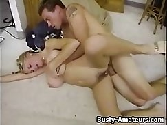 Busty friends sister with glasses pussybanging