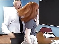 All girl hotties get sodomised under the table by hot man