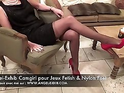 Candid voyeur milf tits Nylon tight soles rare