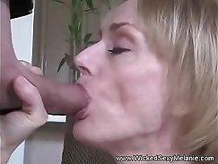 All Internal Poor teacher Leah rides strap on stiff cock