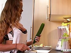 Busty Bethany in baise fuck a hostel fucking in the kitchen