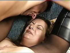 Chubby wife gets anal fucked in cab
