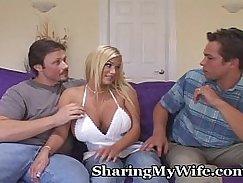 Pantyhose wife on cocks