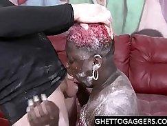 Ebony BBW Pierced Baitdance On Classmates Feet