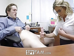 Busty step mom gets cunt and anal
