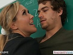 Blonde redhead teacher kumped hard on cock