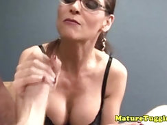 Cock pumping with unreal handjob